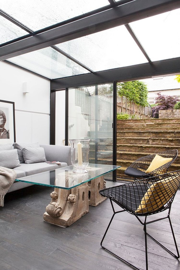 A simple glass extension leading into the yard can serve as a lovely sunroom [Design: Salvesen Graham]