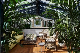 Add greenery to visually enrich that sunroom and create some shade  50 Bright and Beautiful Contemporary Sunrooms Add greenery to vsually enrich that sunroom and create some shade 270x180