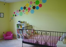 Adorable polka dot wall decal design for nursery 217x155 8 Fun and Easy Ways to Use Polka Dot Wall Decals