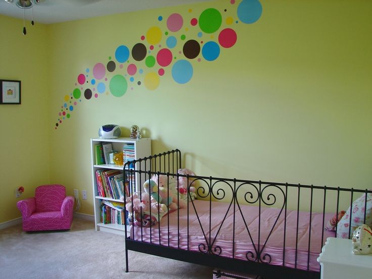 Adorable polka dot wall decal design for nursery