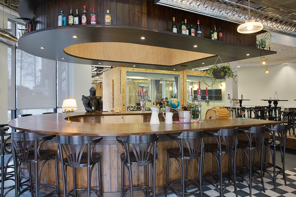 Airbnb reception resembles Irish pub