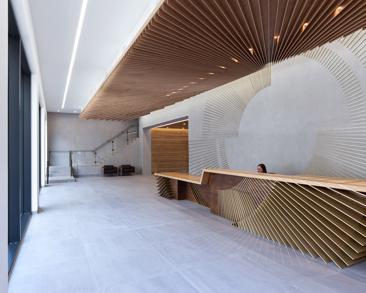 12 inspiring reception desk designs for Wooden hotel design