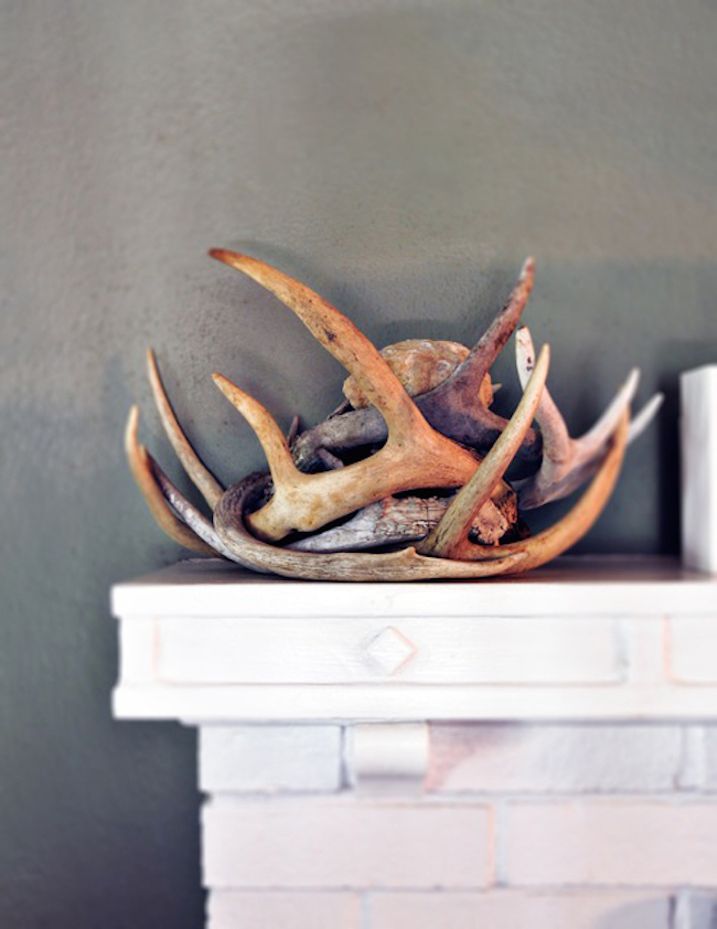 18 creative ways to decorate with antlers for Antler decorations for home