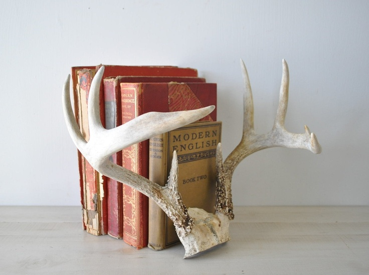Antlers used as book ends