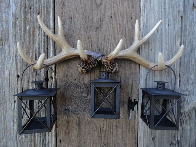 Antlers used to hold up lanterns