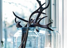 Antlers used with candles and glass jars