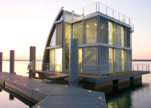 Aqua Floathome Lit Up at Night 217x155 8 Fabulous Floating Homes That Will Make You Want to Live on Water!