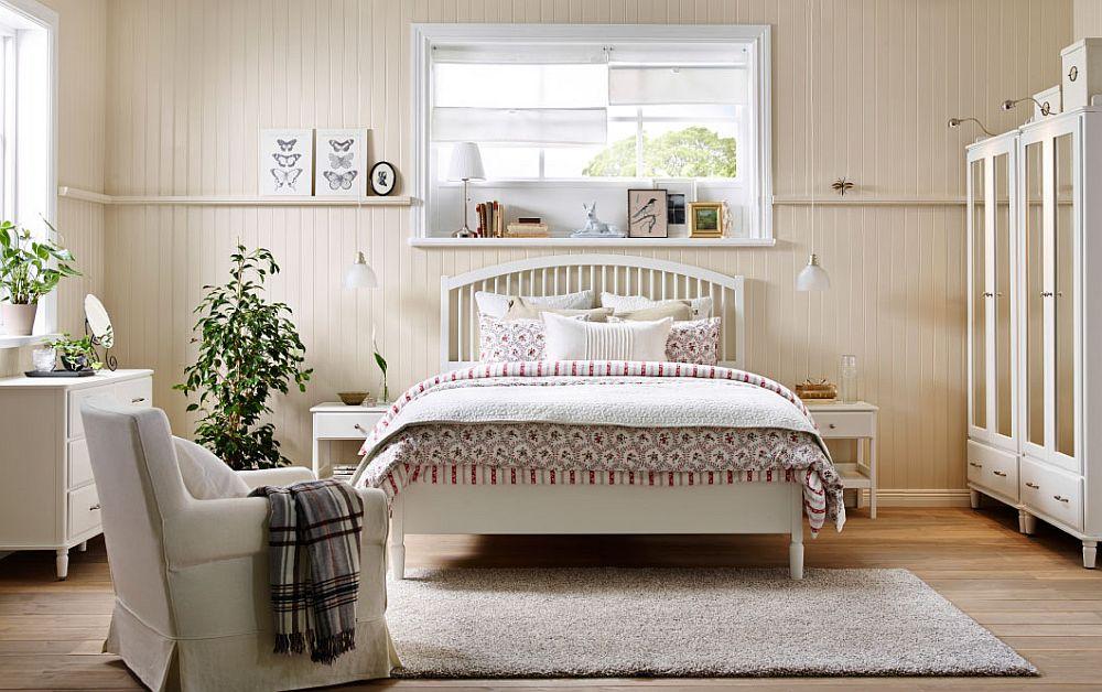 Backdrop sets the mood for cozy, serene IKEA bedroom!