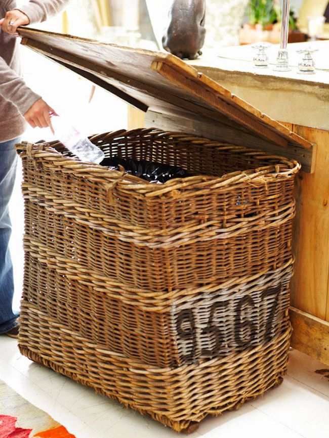 Basket used for trash or recycling