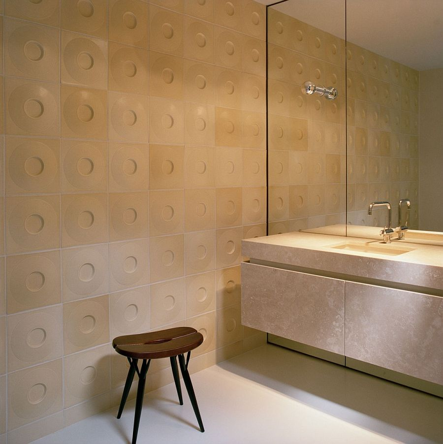 Bathroom tiles bring a hint of Midcentury magic to the contemporary home