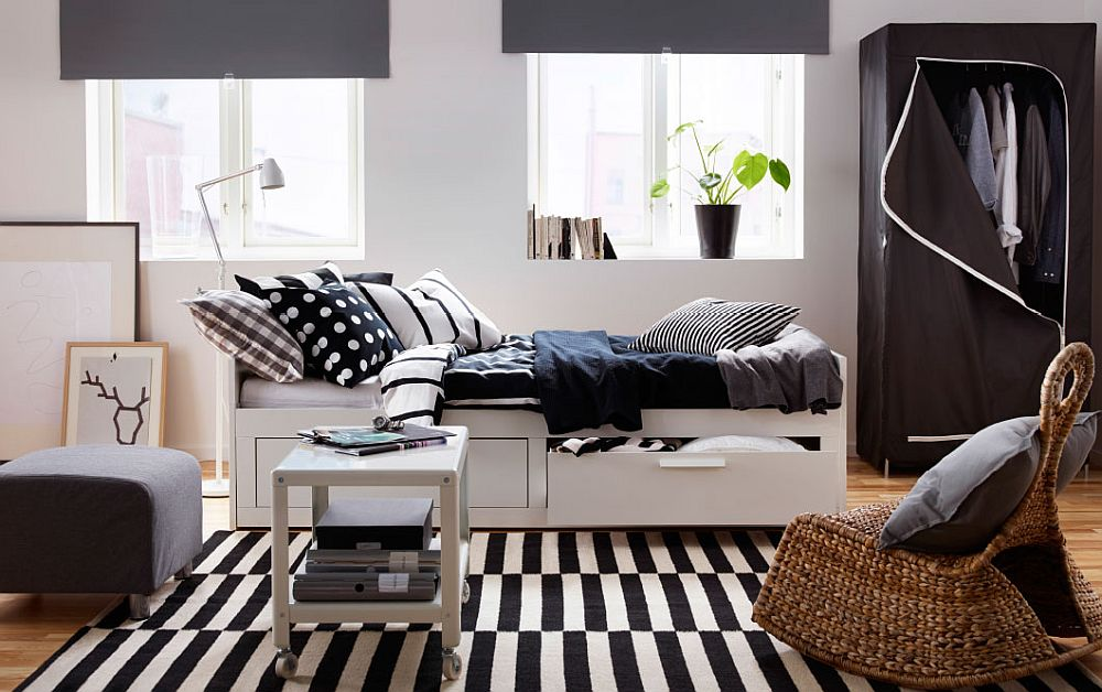 Bedroom with Scandinavian beauty with smart BREIM wardrobe