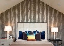 Bedside tables in contrasting styles for the contemporary bedroom