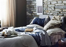 Bedspread-and-cushion-covers-bring-dark-beauty-to-the-unique-bedroom-217x155