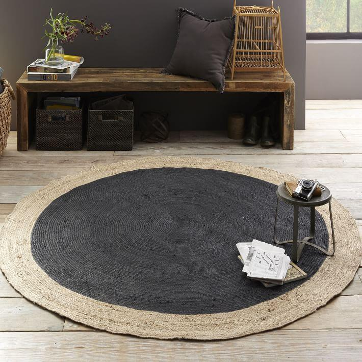 Black jute rug from West Elm