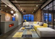 Blend of ambient and focussed lighting for the transparent loft home