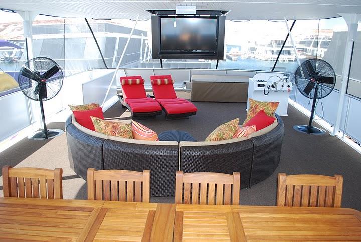 Bravada Luxury Houseboat Living Area