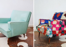 Bright multicolor midcentury chair 217x155 Inspiring Furniture Restoration Projects: From Blah to Rad