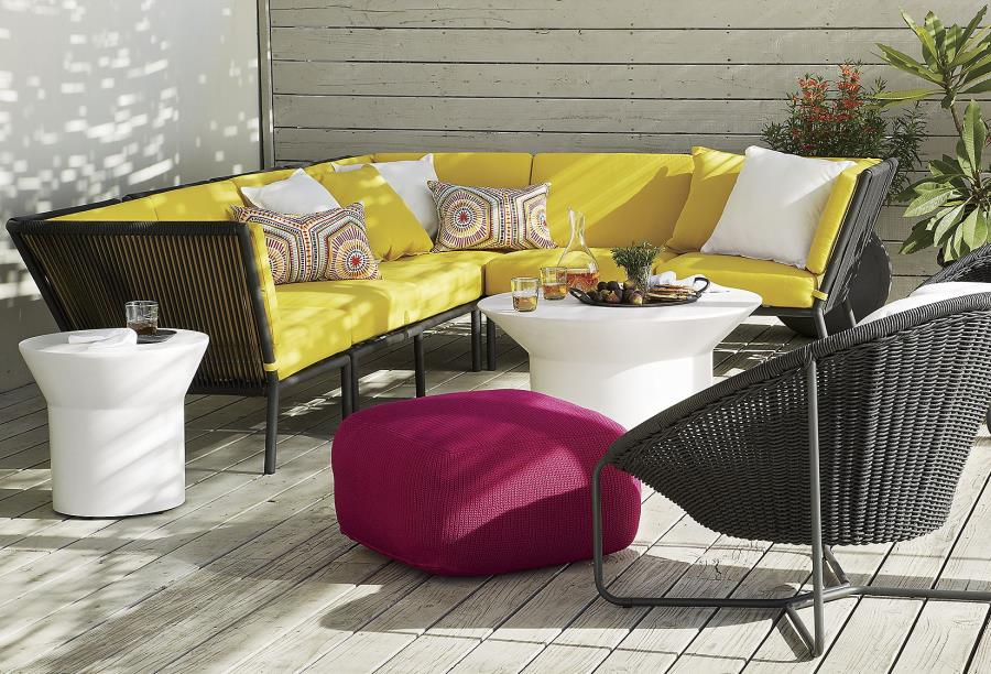 View In Gallery Bright Yellow Sofa From Crate U0026 Barrel