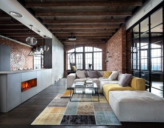 Breathtaking Bachelor Pad: High-End Luxury Envelops Loft Apartment in Kiev