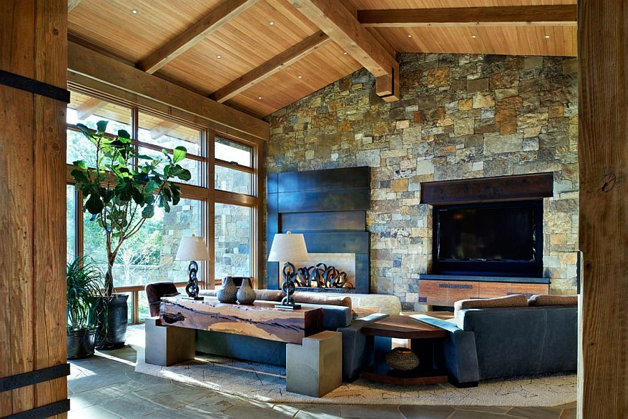 View In Gallery Cabin Style Meets Modern Comfort Inside The Lavish Colorado  Home