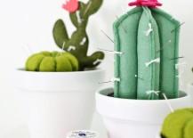Cactus pincushion from A Beautiful Mess