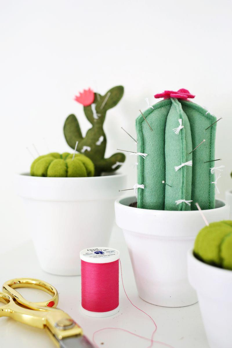 Cactus pincushion from A Beautiful Mess