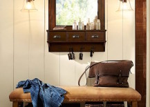 Caden leather bench 217x155 8 Welcoming Entryway Benches That Maximize Storage Space