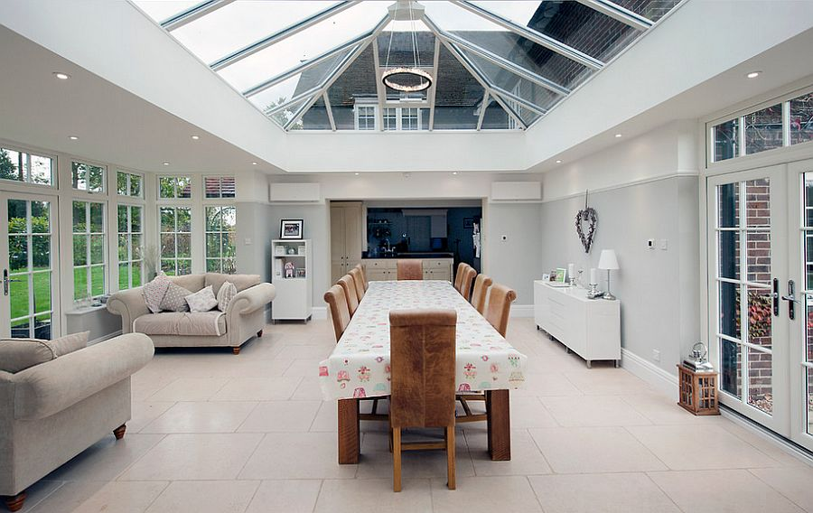 Captivating glass roof for the audacious sunroom [Design: ROCOCO]