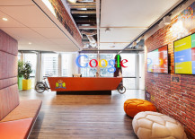 Carrier cycle reception desk at Google Amsterdam