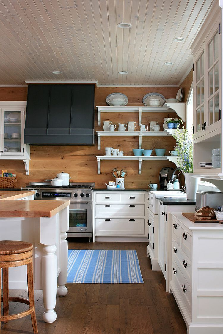 Kitchen wallpaper stripes - View In Gallery Ceiling And Rug Add Stripes To This Lovely Traditional Kitchen From James Yochum Photography
