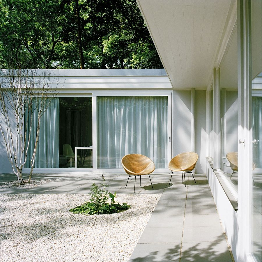 Central courtyard of the house is accessible from every room