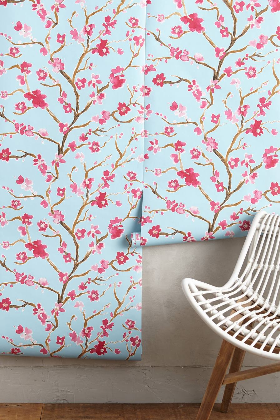 Cherry blossom wallpaper from Anthropologie The Beauty of Cherry Blossom Wallpaper