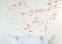 Cherry blossom wallpaper from de Gournay