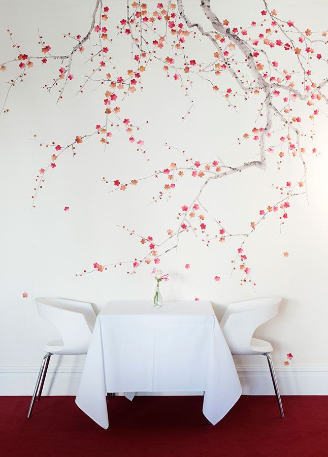 Cherry blossom wallpaper from de Gournay