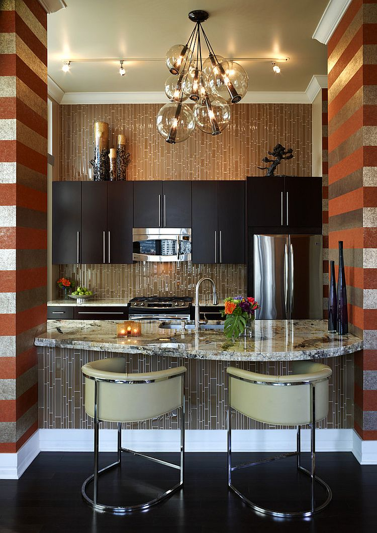designs for kitchen walls trend 20 ways to add stripes to your kitchen 6675