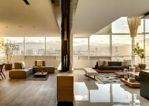 City skyline create a fabulous backdrop for the living room