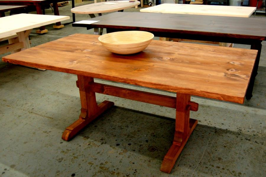 Classic trestle table from Lorimer Workshop