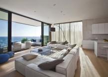 Classy contemporary living room of Novigrad home next to the Adriatic