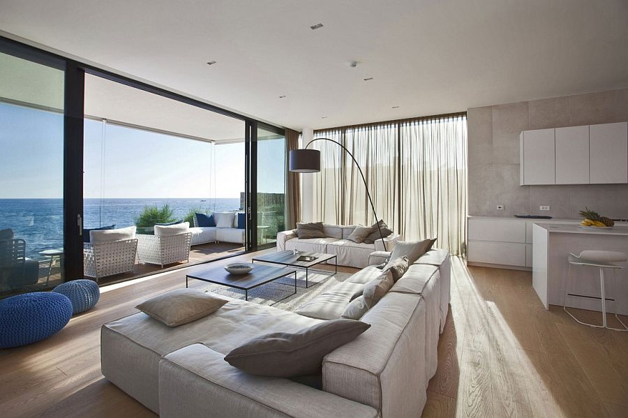 Classy contemporary living room of Novigrad home next to the Adriatic