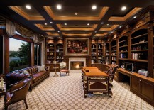 Classy home office with inviting ambiance