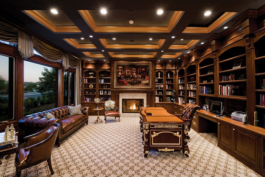 Classy home office with inviting ambiance [Design: Pinnacle Architectural Studio]