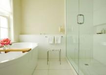 Clean, crisp white bathroom