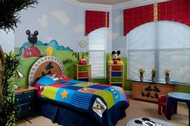 Colorful and creative Mickey-themed kids' bedroom