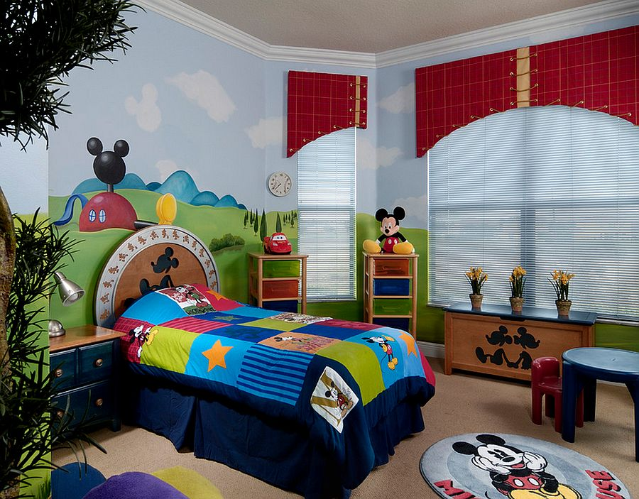 25 disney inspired rooms that celebrate color and creativity Mickey mouse bedroom ideas