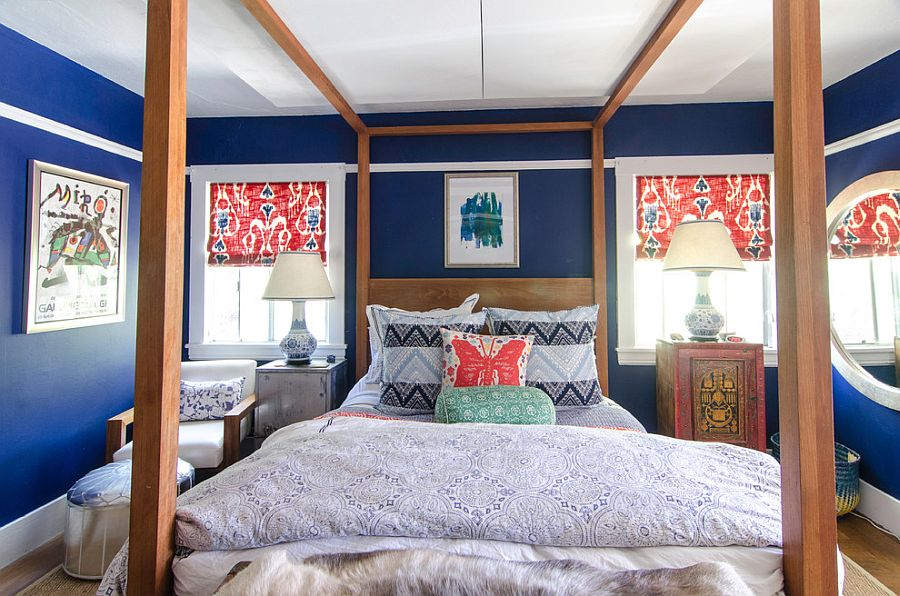 Colorful bedroom with a truly global style [Design: Alex Amend]