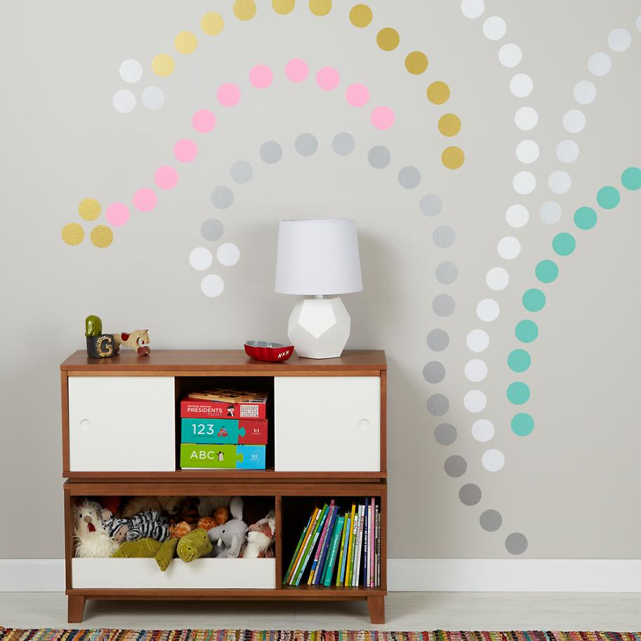 Wall Design Decals trees twines View In Gallery Colorful Polka Dot Wall Decals Creating A Design