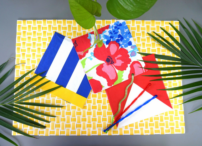 Colorful tropical napkins