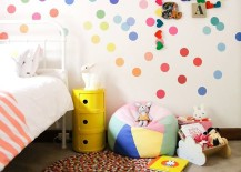 Colorul confetti style polka dot wall decals for childs bedroom 217x155 8 Fun and Easy Ways to Use Polka Dot Wall Decals