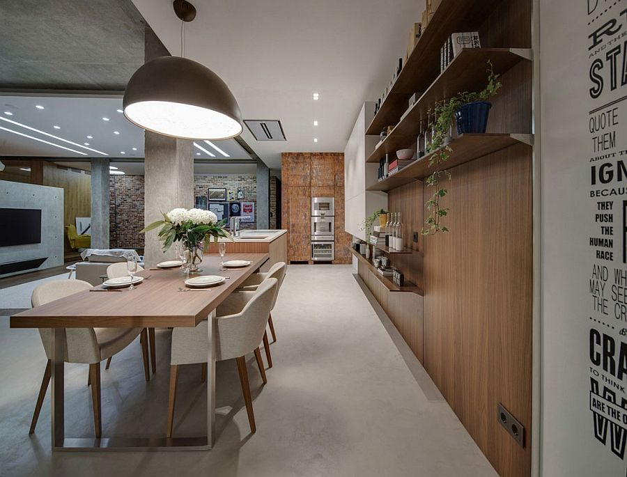Combining the kitchen and dining space with effortless ease