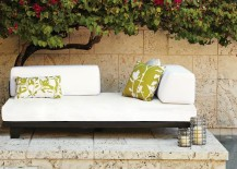 Comfy modern outdoor sofa from West Elm